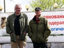 Судья SV (Германия) Ханс Руденауэр и советник по дрессировке РСВНО Е. Акинин. Москва, 2005 г.